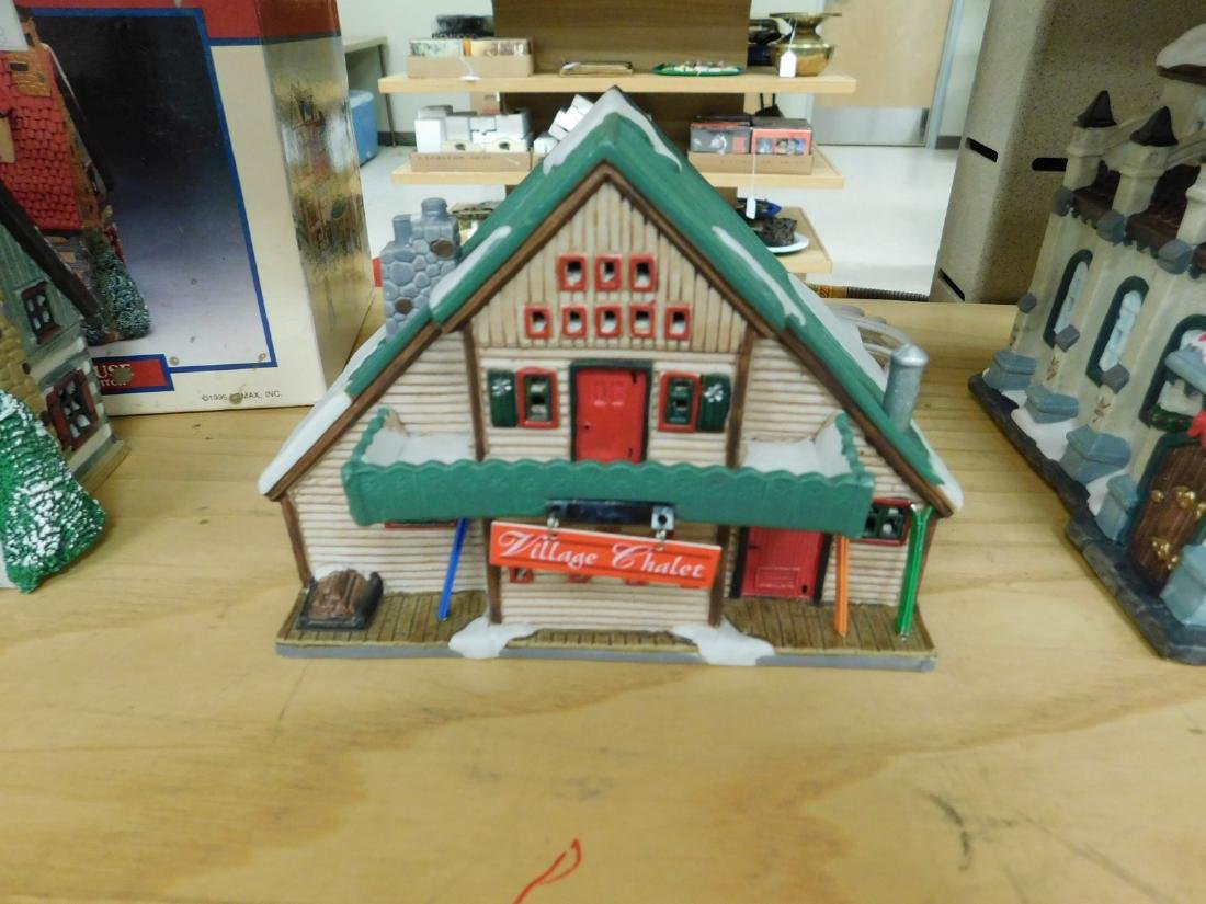 5 LIGHTED CHRISTAMS HOUSES - 3