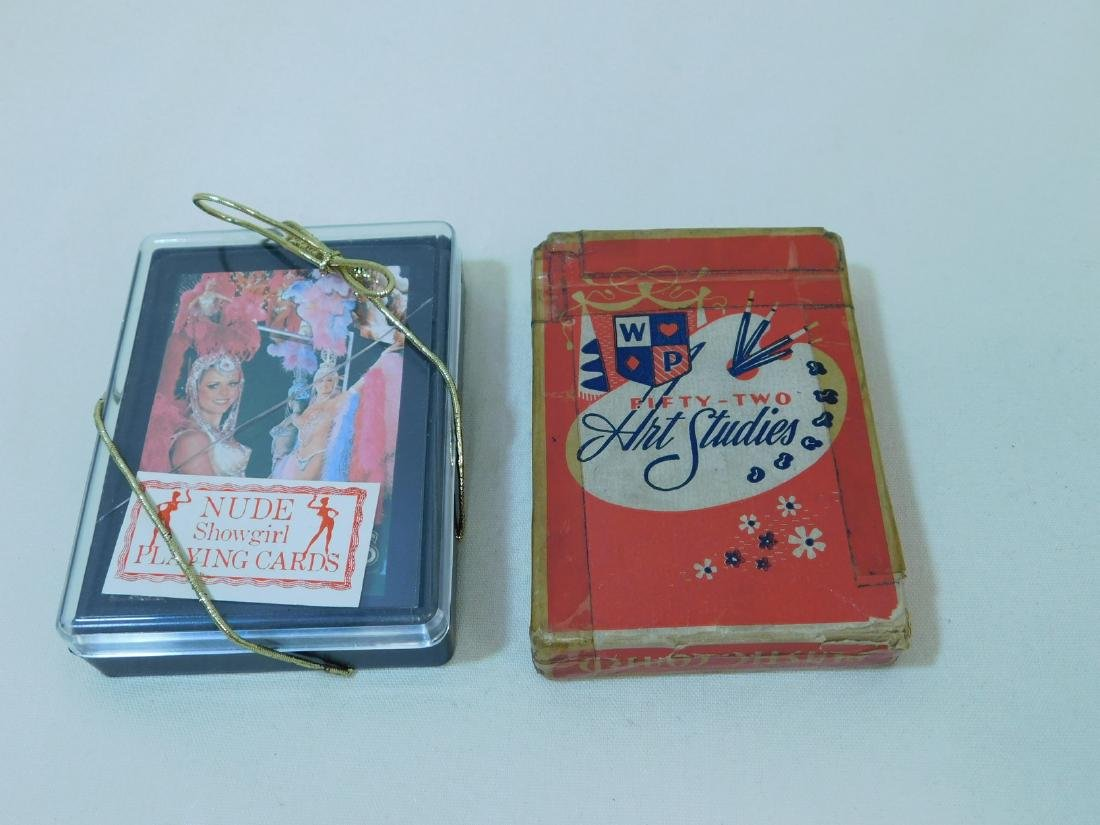 VINTAGE PLAYING CARDS - DOG TAGS - POCKET WATCH & - 2