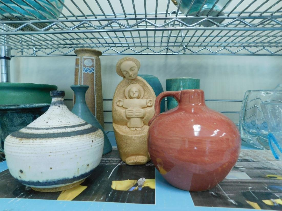 10 POTTERY PIECES - 3