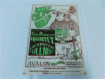 RARE ORIGINAL KEEP CALIFORNIA GREEN CONCERT POSTER