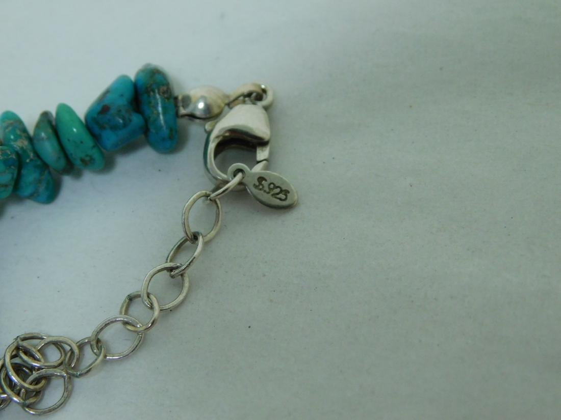 TURQUOISE NECKLACE WITH 2 MATCHING BRACELETS - 3