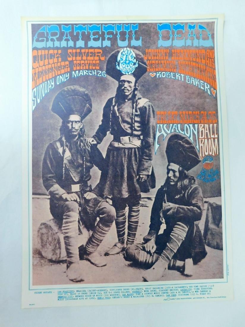 1967 GRATEFUL DEAD ORIGINAL CONCERT POSTER & MORE - 2