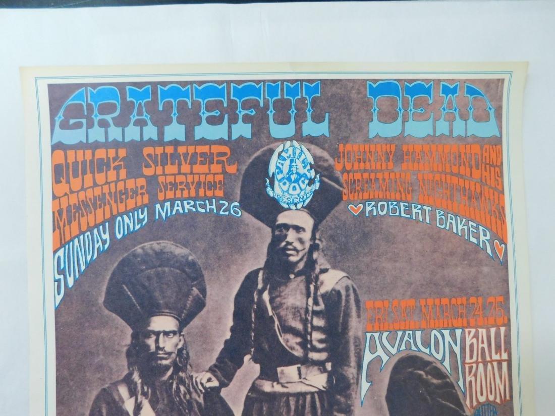 1967 GRATEFUL DEAD ORIGINAL CONCERT POSTER & MORE - 3