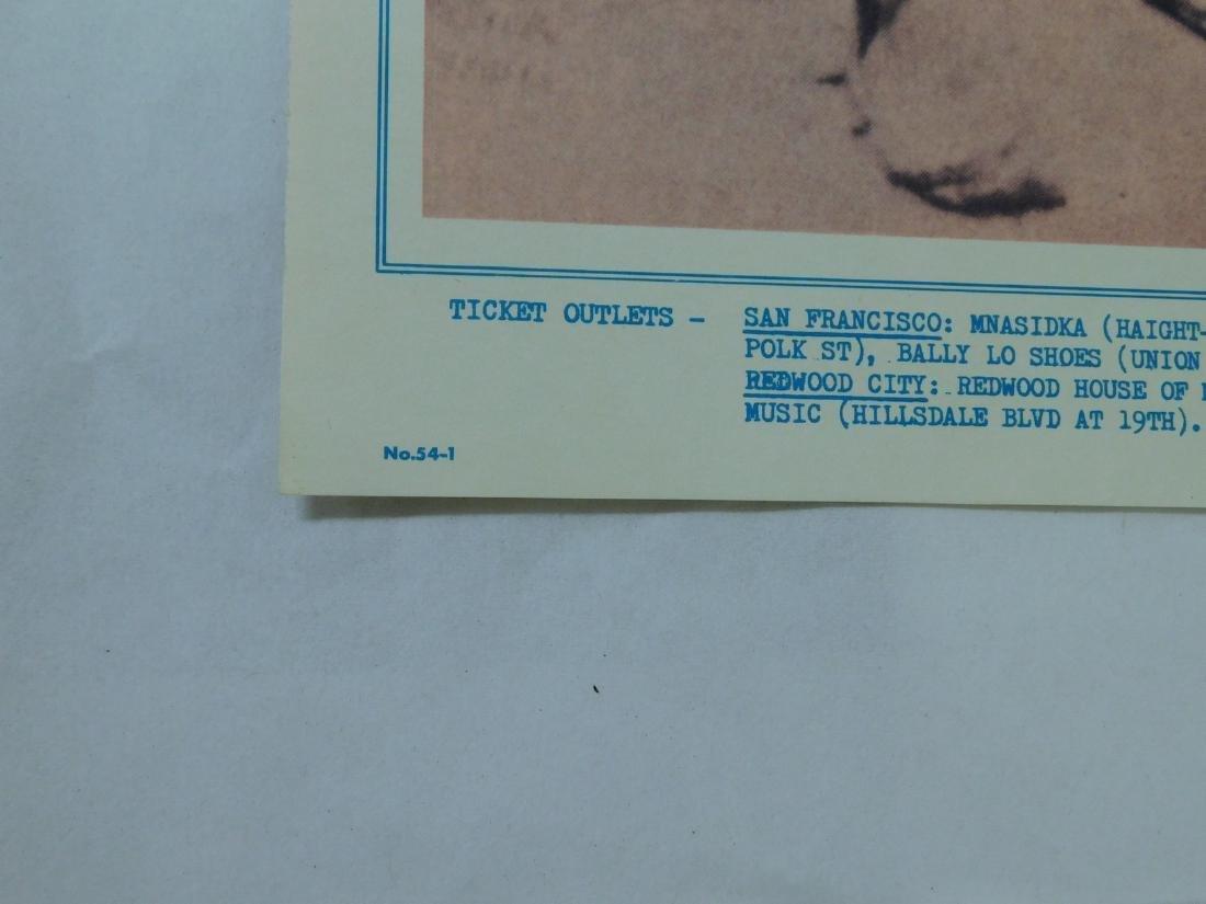 1967 GRATEFUL DEAD ORIGINAL CONCERT POSTER & MORE - 6