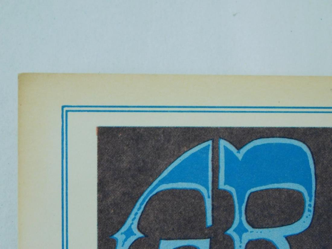 1967 GRATEFUL DEAD ORIGINAL CONCERT POSTER & MORE - 8