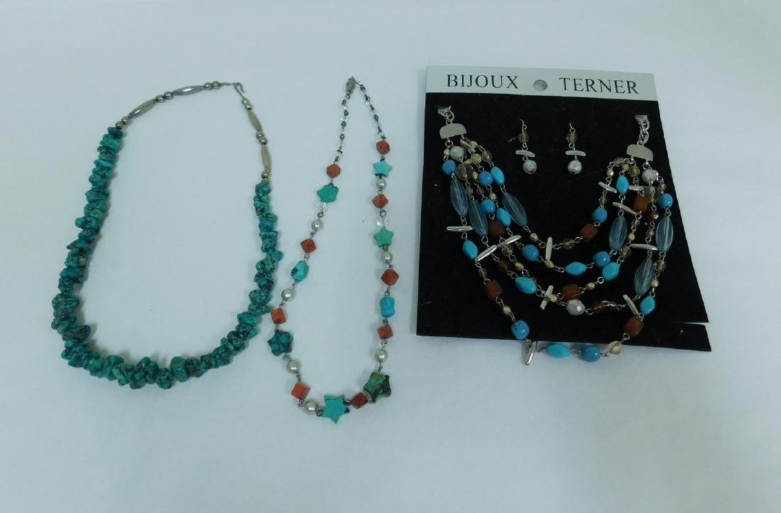 TURQUOISE NECKLACES & NECKLACE EARING SET