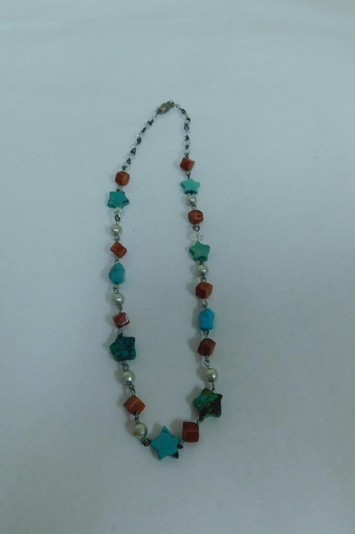 TURQUOISE NECKLACES & NECKLACE EARING SET - 3