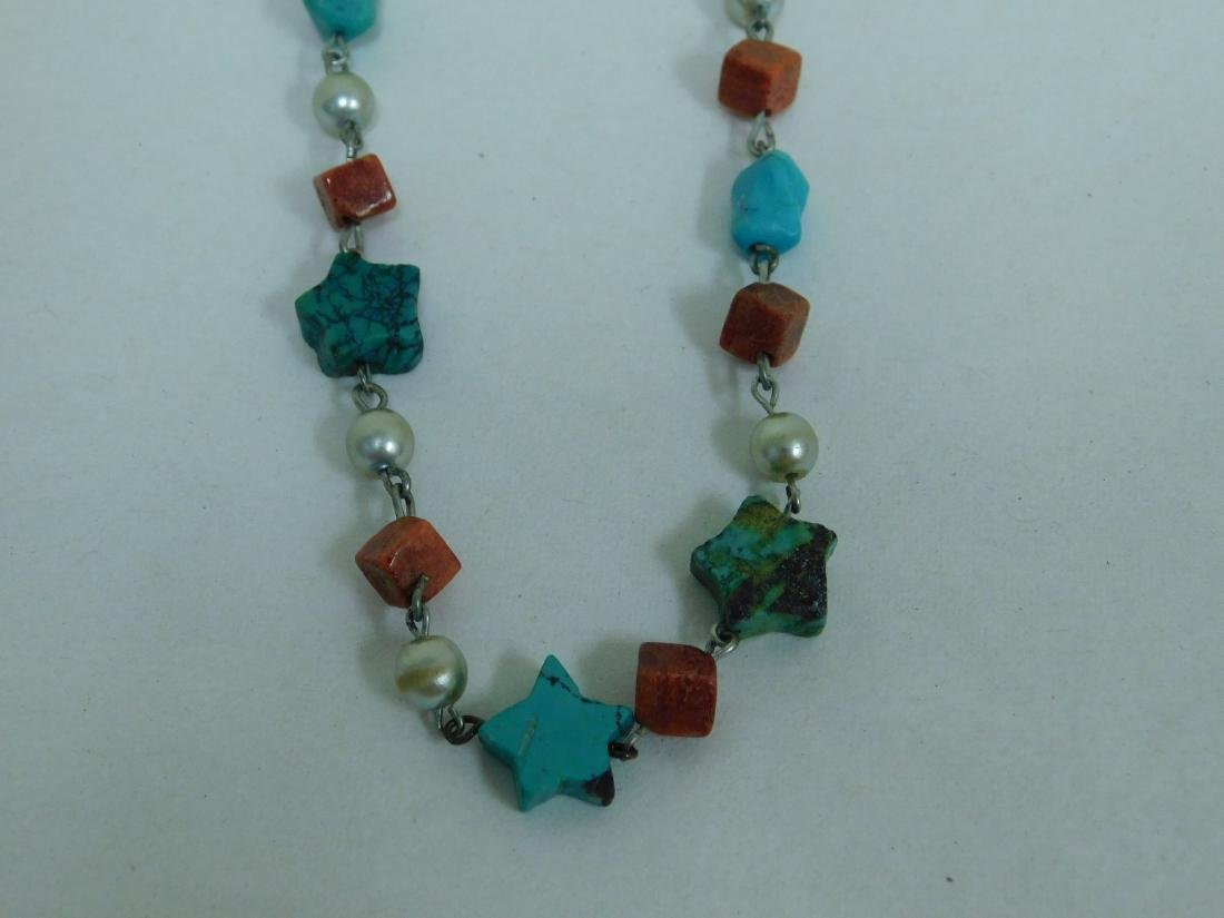 TURQUOISE NECKLACES & NECKLACE EARING SET - 4