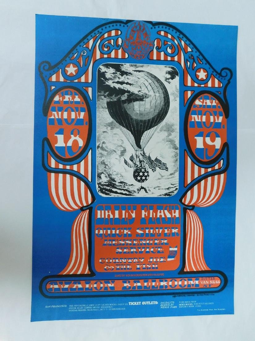 1966 DAILY FLASH - QUICK SILVER CONCERT POSTER