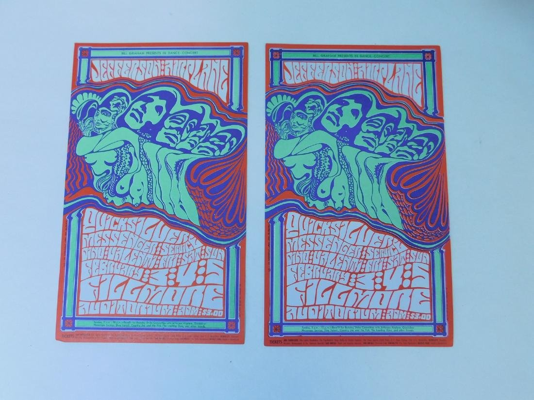 2 JEFFERSON AIRPLANE VINTAGE ROCK POSTCARDS