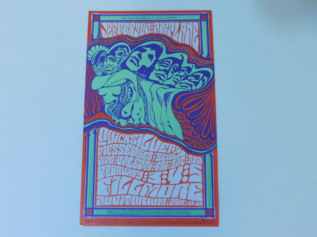 2 JEFFERSON AIRPLANE VINTAGE ROCK POSTCARDS - 2
