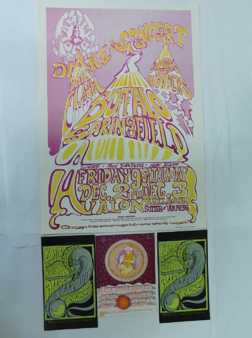 BUFFALO SPRINGFIELD CONCERT DANCE POSTER & MORE