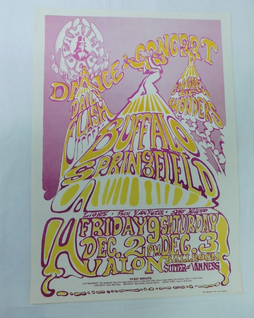 BUFFALO SPRINGFIELD CONCERT DANCE POSTER & MORE - 2