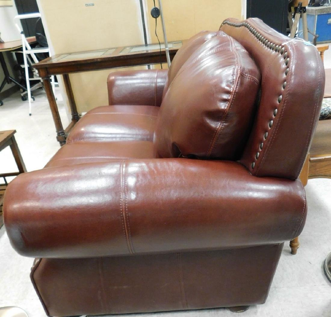 LEATHER LOVESEAT - 4