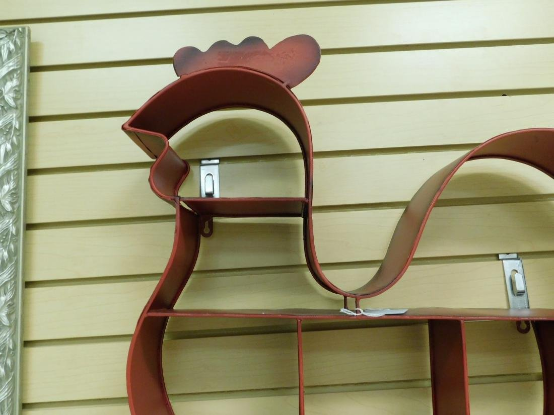 METAL ROOSTER SHAPED WALL SHELF - 3