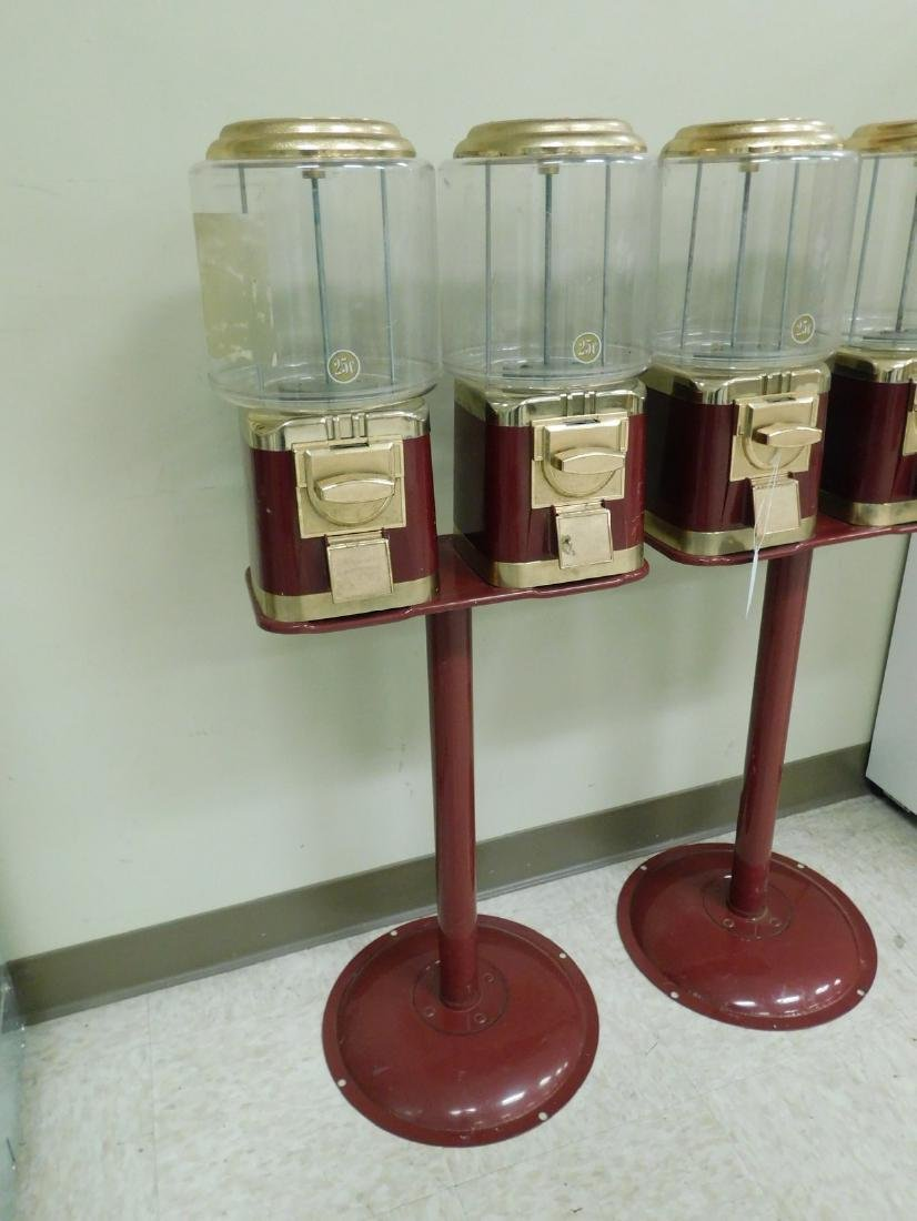 2 DOUBLE CANDY MACHINES ON STAND - 2