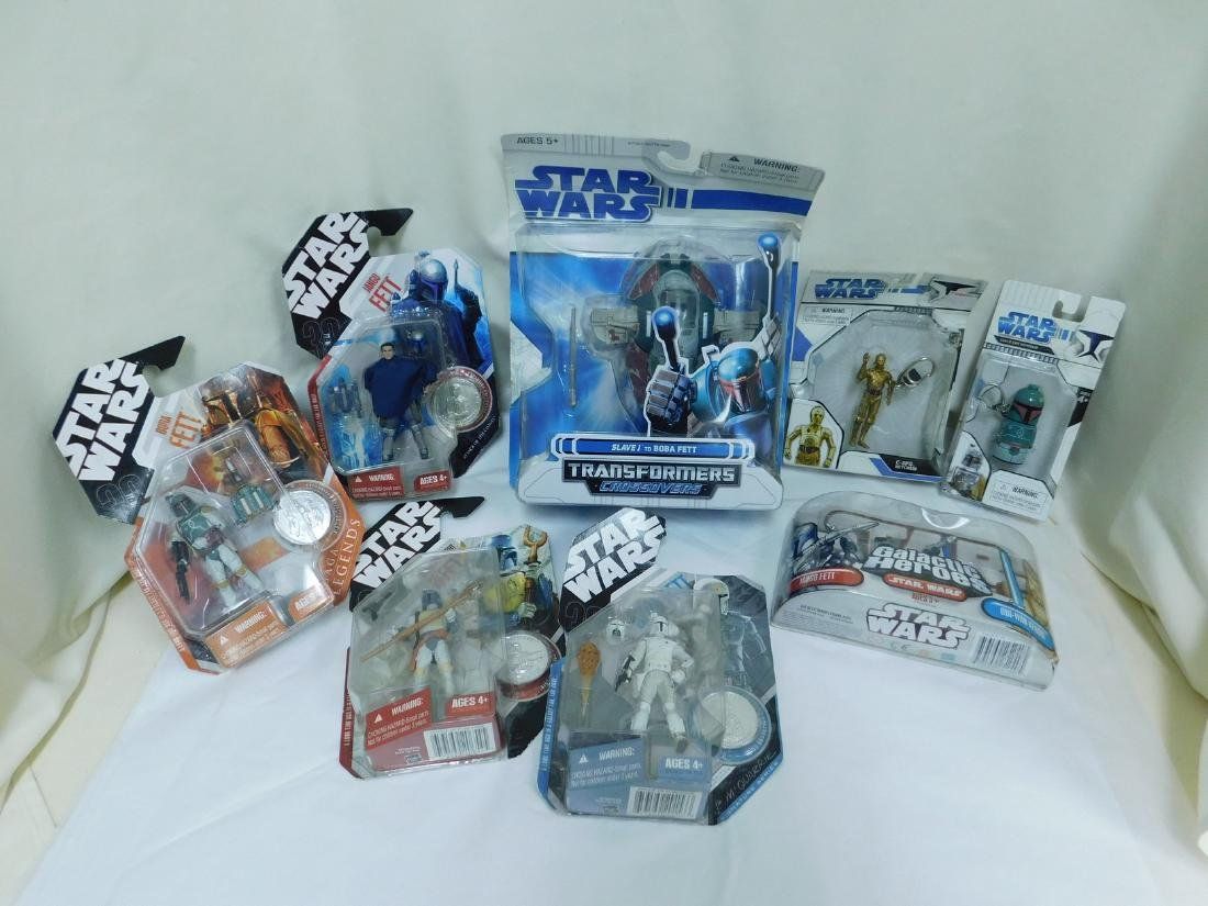 STAR WARS FIGURES WITH COLLECTORS COINS & MORE