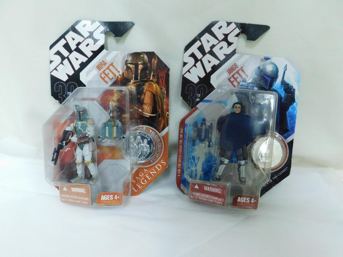 STAR WARS FIGURES WITH COLLECTORS COINS & MORE - 7
