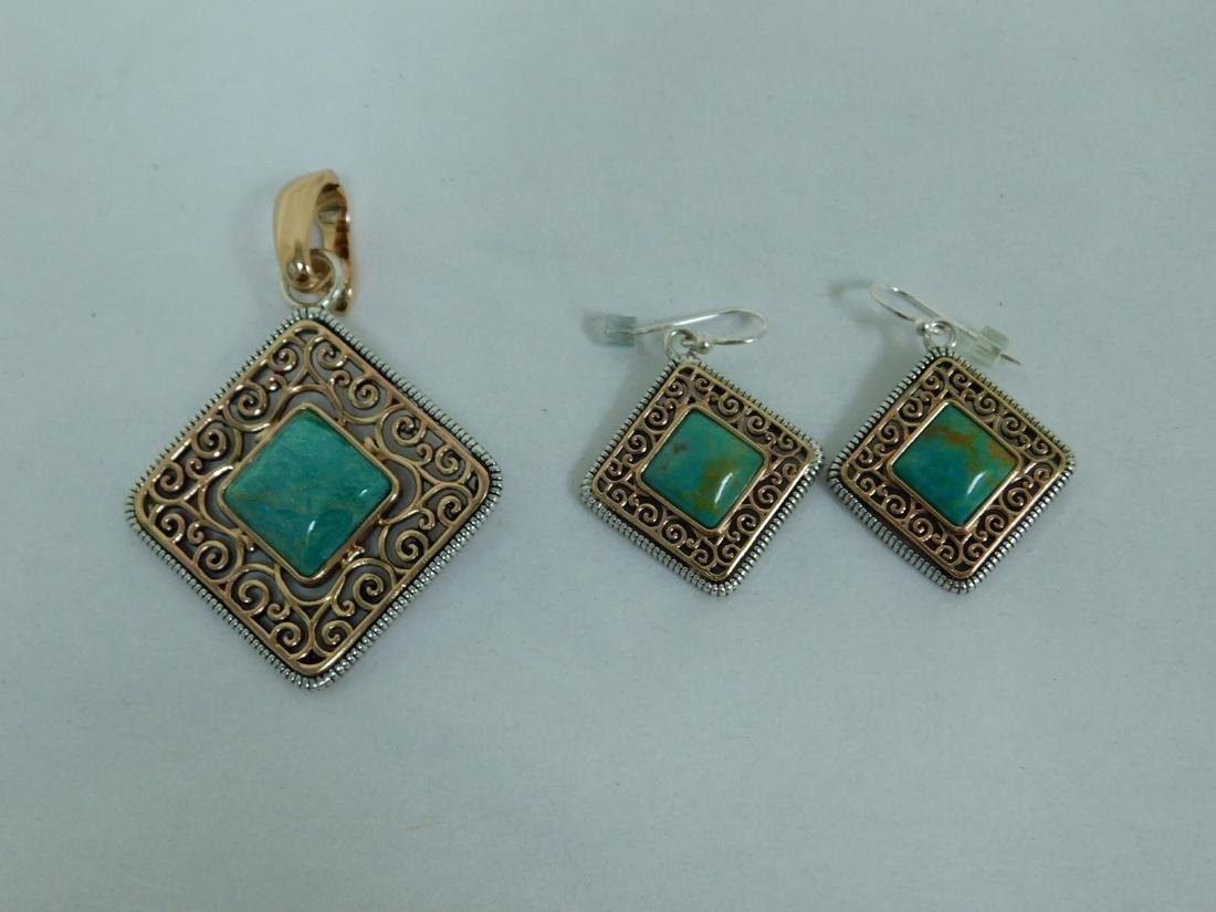 STERLING PENDANT WITH MATCHING EARRINGS