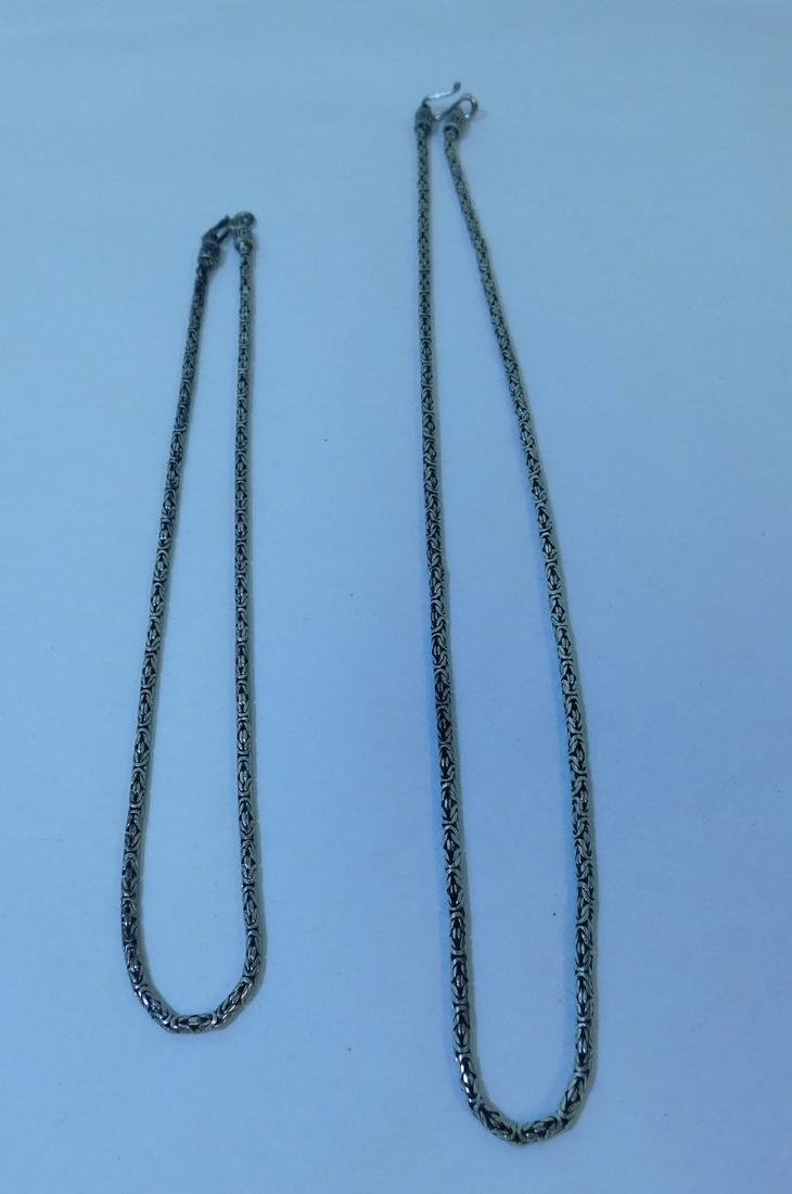 2 .925 SILVER NECKLACES