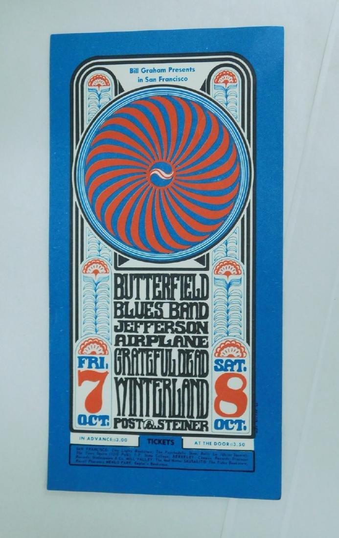 1966 WINTERLAND POSTCARD/HANDBILL