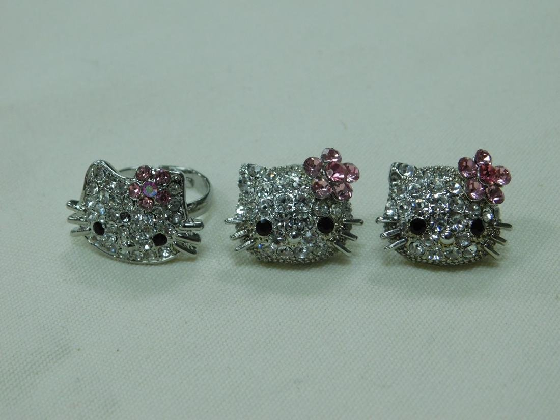 VARIOUS HELLO KITTY RHINESTONE JEWELRY AND A BRACE - 5