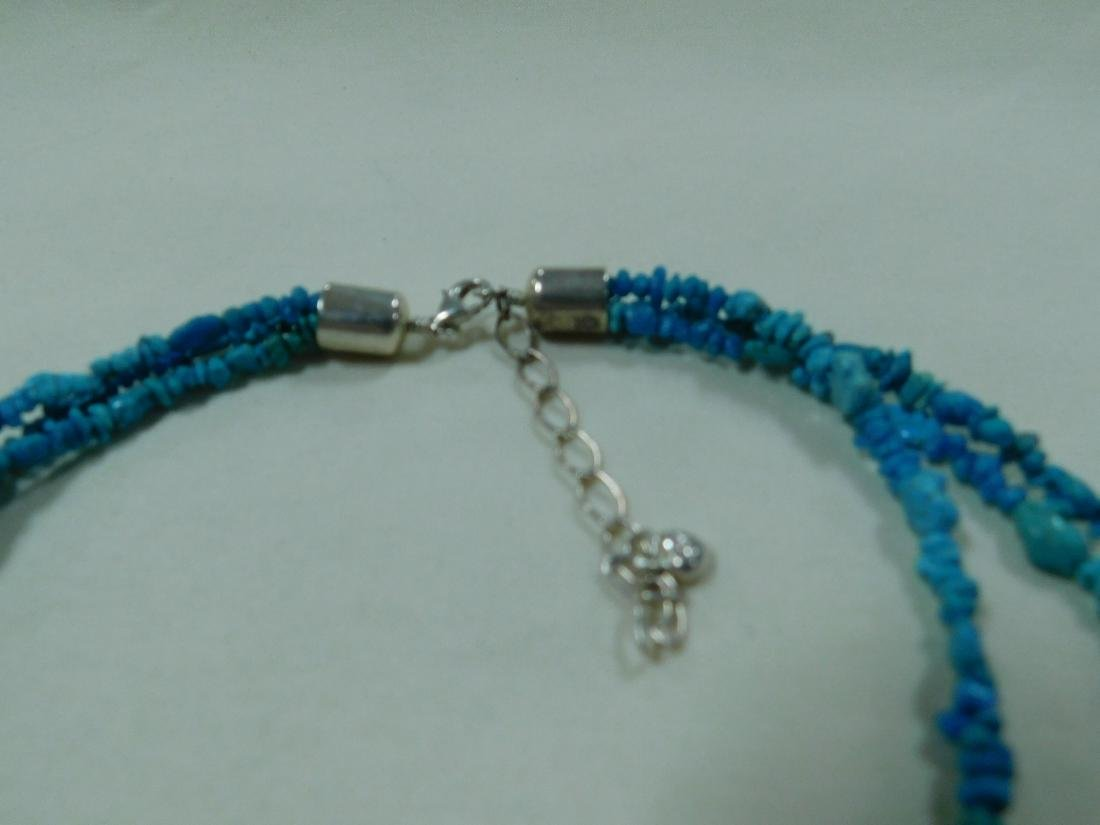 925 AND TURQUOISE BEAD NECKLACES - 5