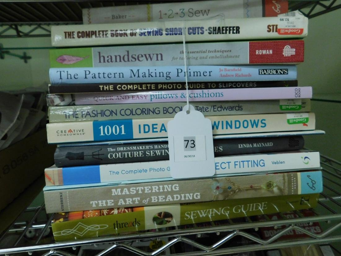 VARIOUS SEWING BOOKS