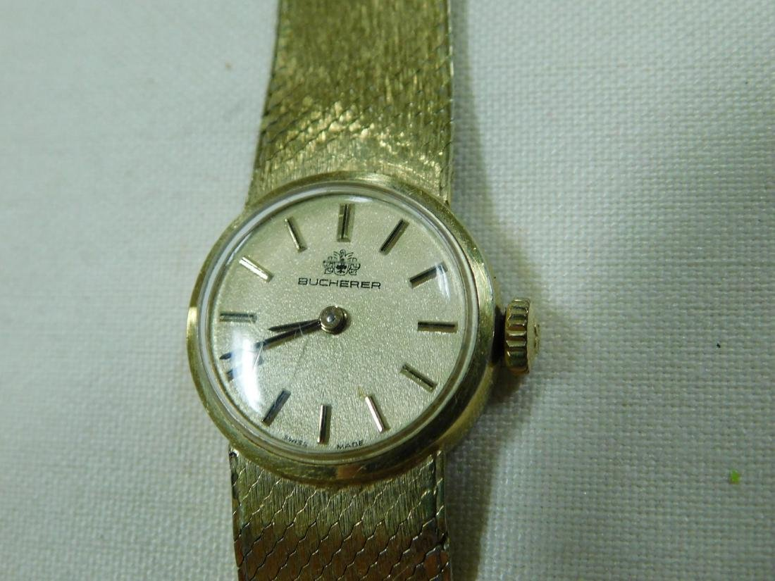 BUCHERER GOLD TONE LADIES WATCH - 3