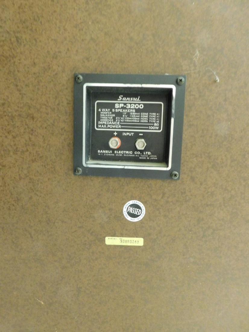 PAIR OF VINTAGE SANSUI SP-3200 WOOD CASE SPEAKERS - 5