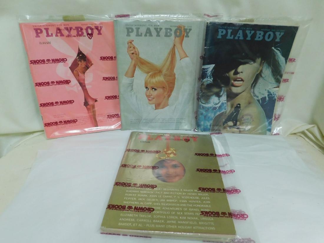 4 VINTAGE 1965 PLAYBOY MAGAZINES