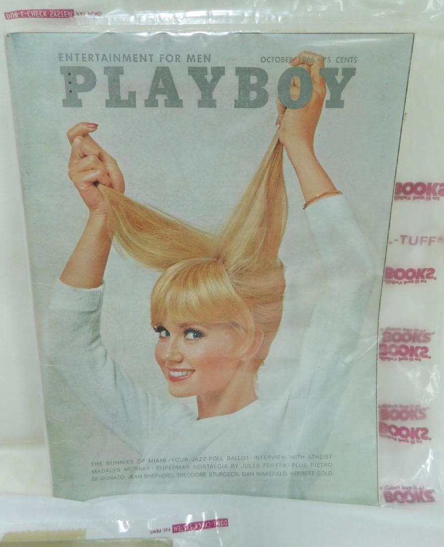 4 VINTAGE 1965 PLAYBOY MAGAZINES - 4