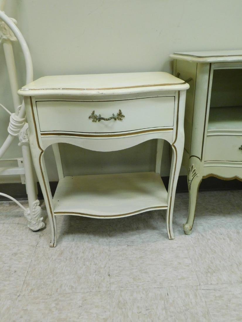 2 FRENCH PROVINCHIAL STYLE NIGHT STANDS AND A 3 DR - 2