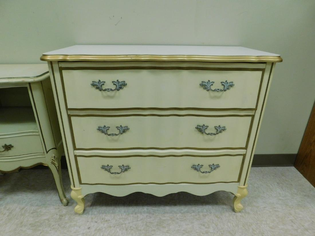 2 FRENCH PROVINCHIAL STYLE NIGHT STANDS AND A 3 DR - 8