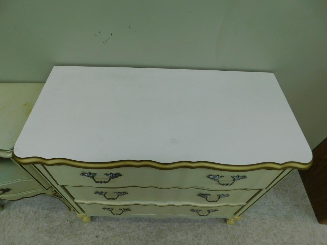 2 FRENCH PROVINCHIAL STYLE NIGHT STANDS AND A 3 DR - 9