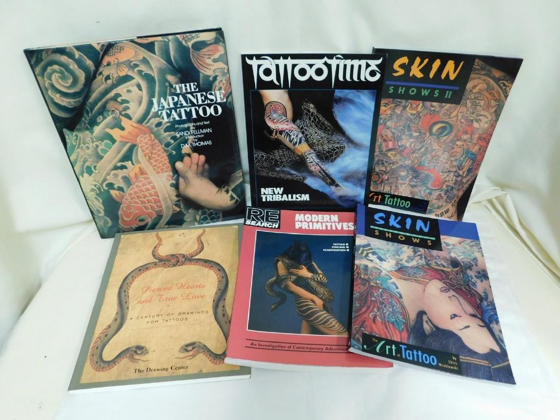 6 TATOO PICTORIAL BOOKS