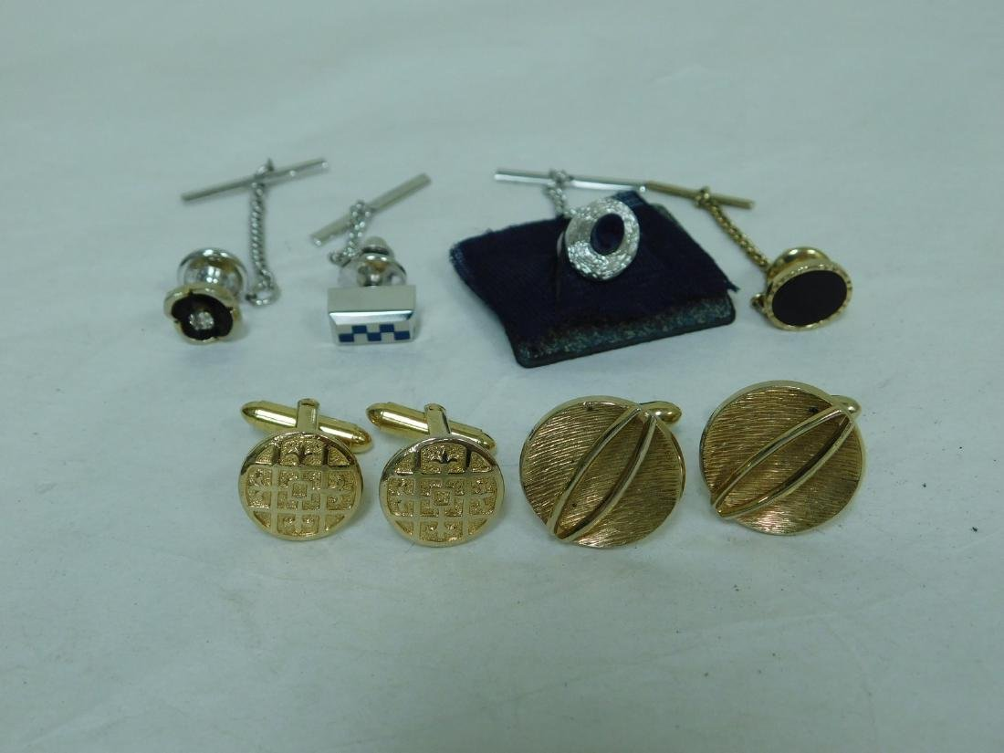 CUFF LINKS AND TIE PINS