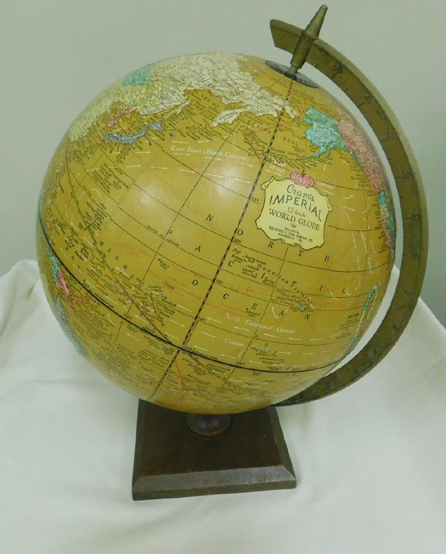 VINTAGE CRAMS IMPERIAL WORLD GLOBE
