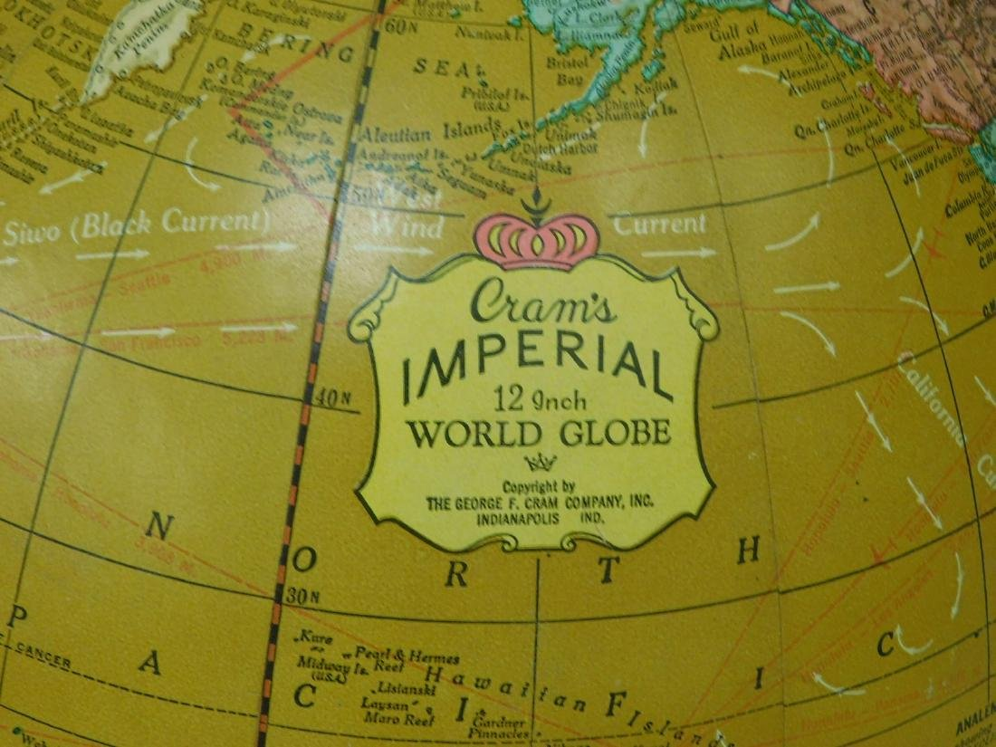 VINTAGE CRAMS IMPERIAL WORLD GLOBE - 2