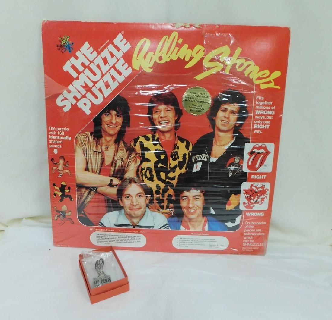 1983 ROLLING STONE SHMUZZLE PUZZLE & PIN