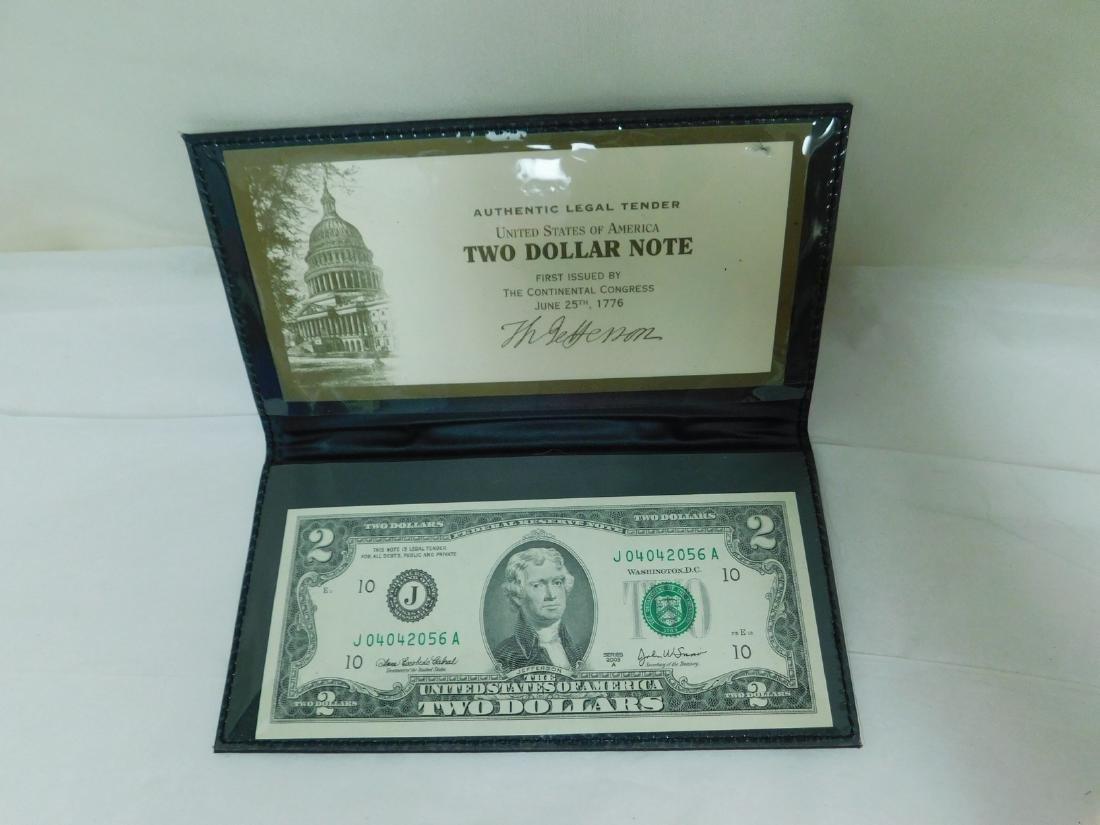 FOUR 2003A $2 WORLD RESERVE BILLS - 4