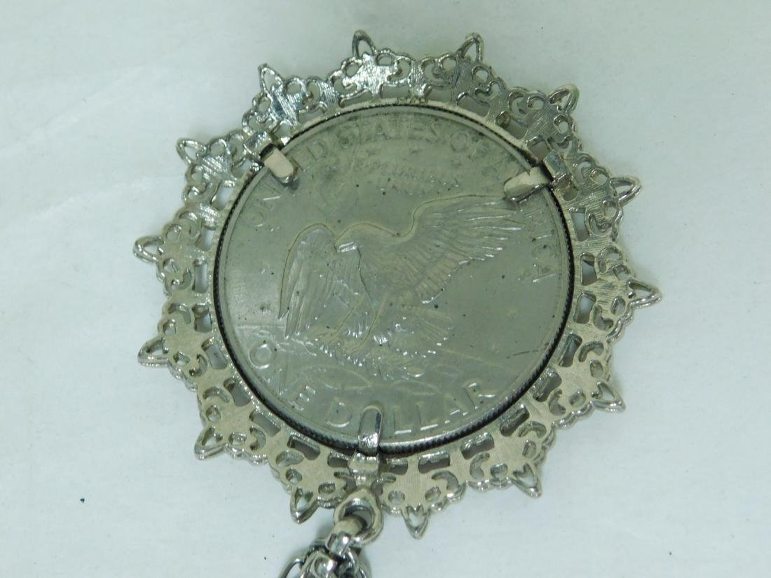 MIXED COIN LOT-COIN CUFF LINKS-HOLDERS & NECKLACE - 4