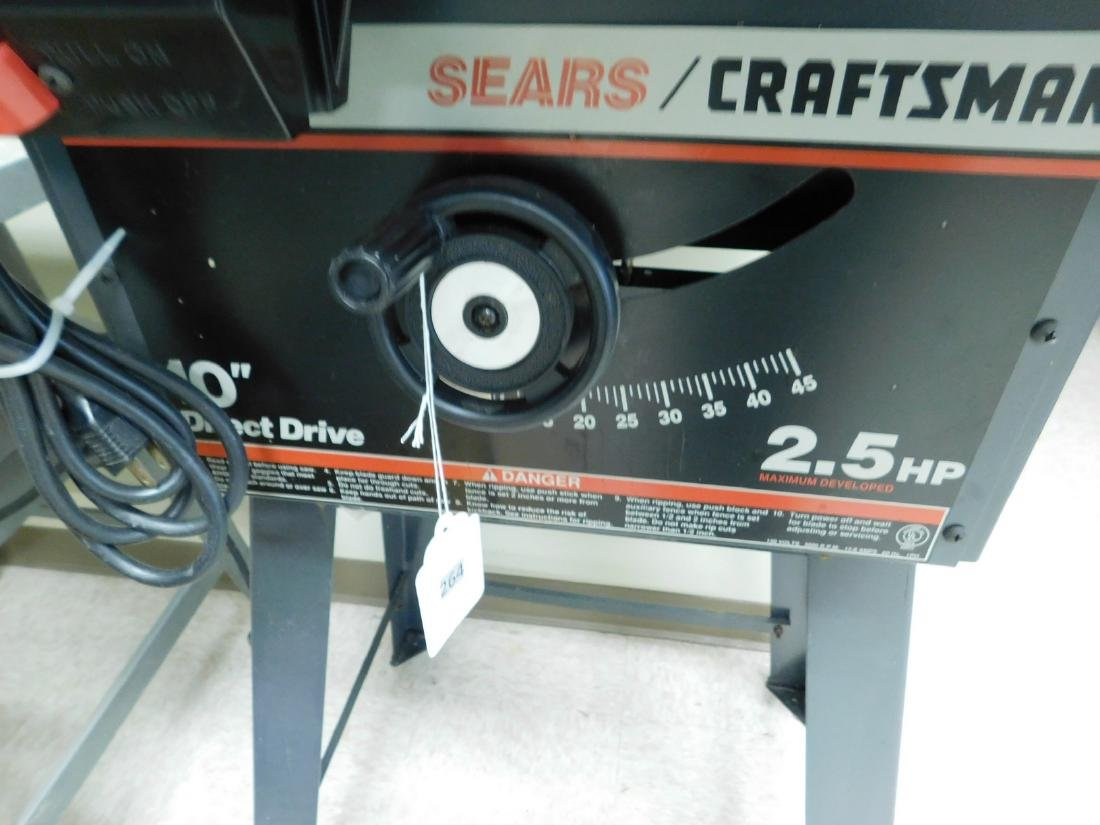 CRAFTSMAN 10 INCH DIRECT DRIVE TABLE SAW - 3