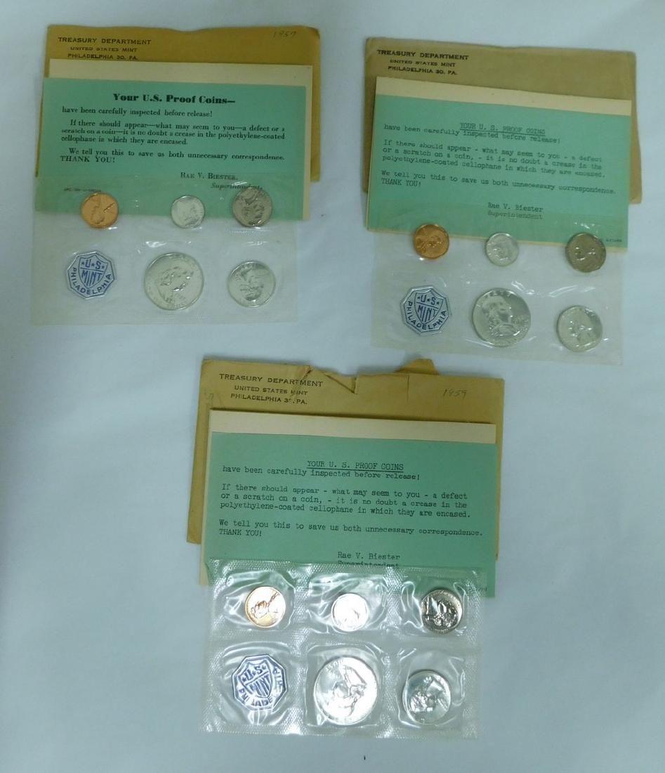 1957-1959 PHILADELPHIA MINT COIN SETS