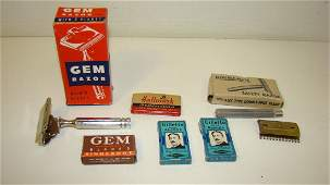 LOT OF VINTAGE RAZORS  BLADES