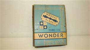 VINTAGE BOX OF 20 WONDER BALDE DOUBLE EDGE BLADES