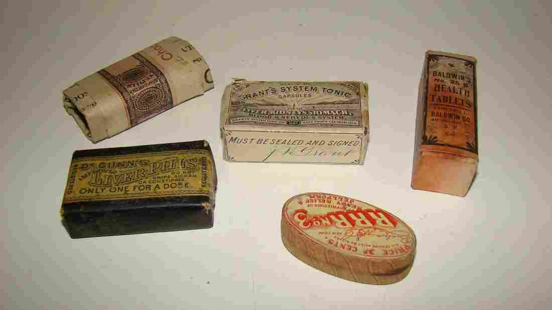 VINTAGE APOTHECARY/PHARMACEUTICAL ITEMS - 5 ITEMS