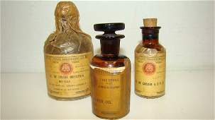3 VINTAGE APOTHECARYPHARMACEUTICAL ITEMS