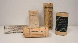 5 VINTAGE APOTHECARYPHARMACEUTICAL ITEMS