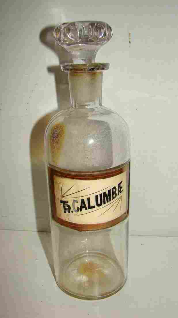 VINTAGE APOTHECARY/PHARMACEUTICAL GLASS BOTTLE